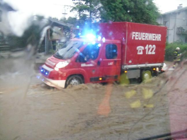 Hochwassereinsatz am 8.6.2015