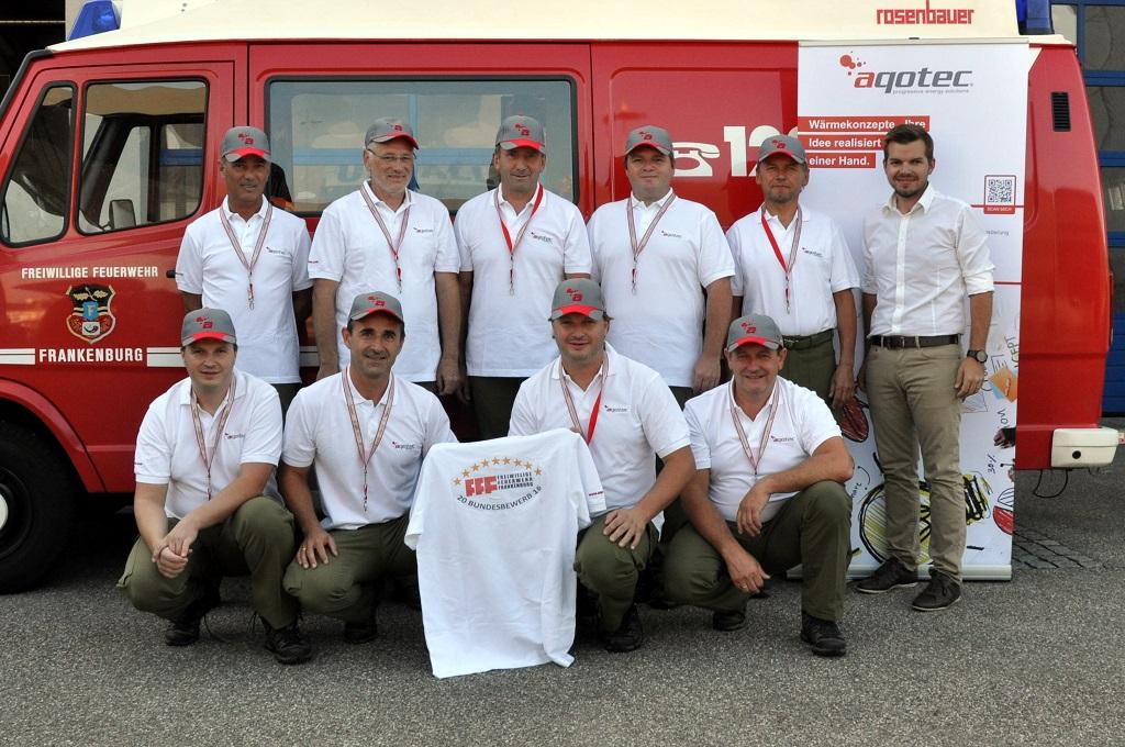 aqotec unterstützt Bundesbewerbteilnehmer der  Feuerwehr Frankenburg