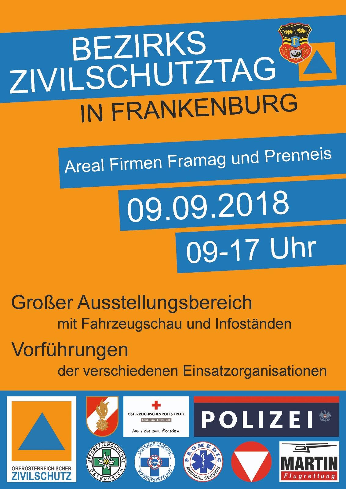 Bezirkszivilschutztag in Frankenburg